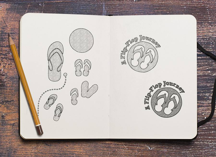 b48f245833ea Sketches for the Flip Flop logo