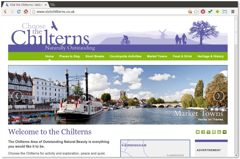 Choose the Chilterns website